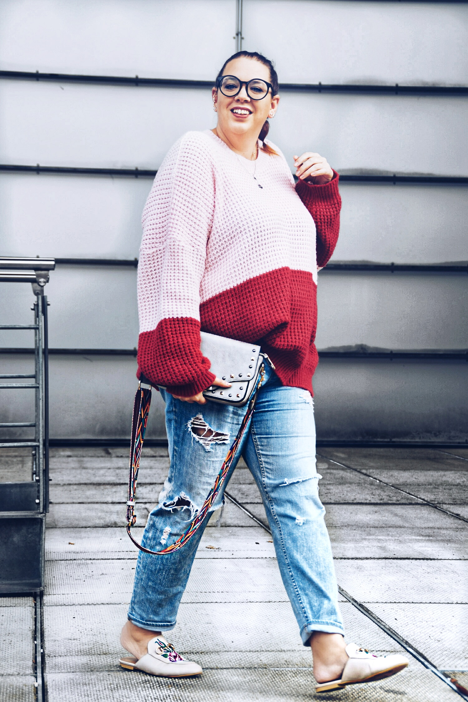Outfit : Colorblocking Knitter boohoo
