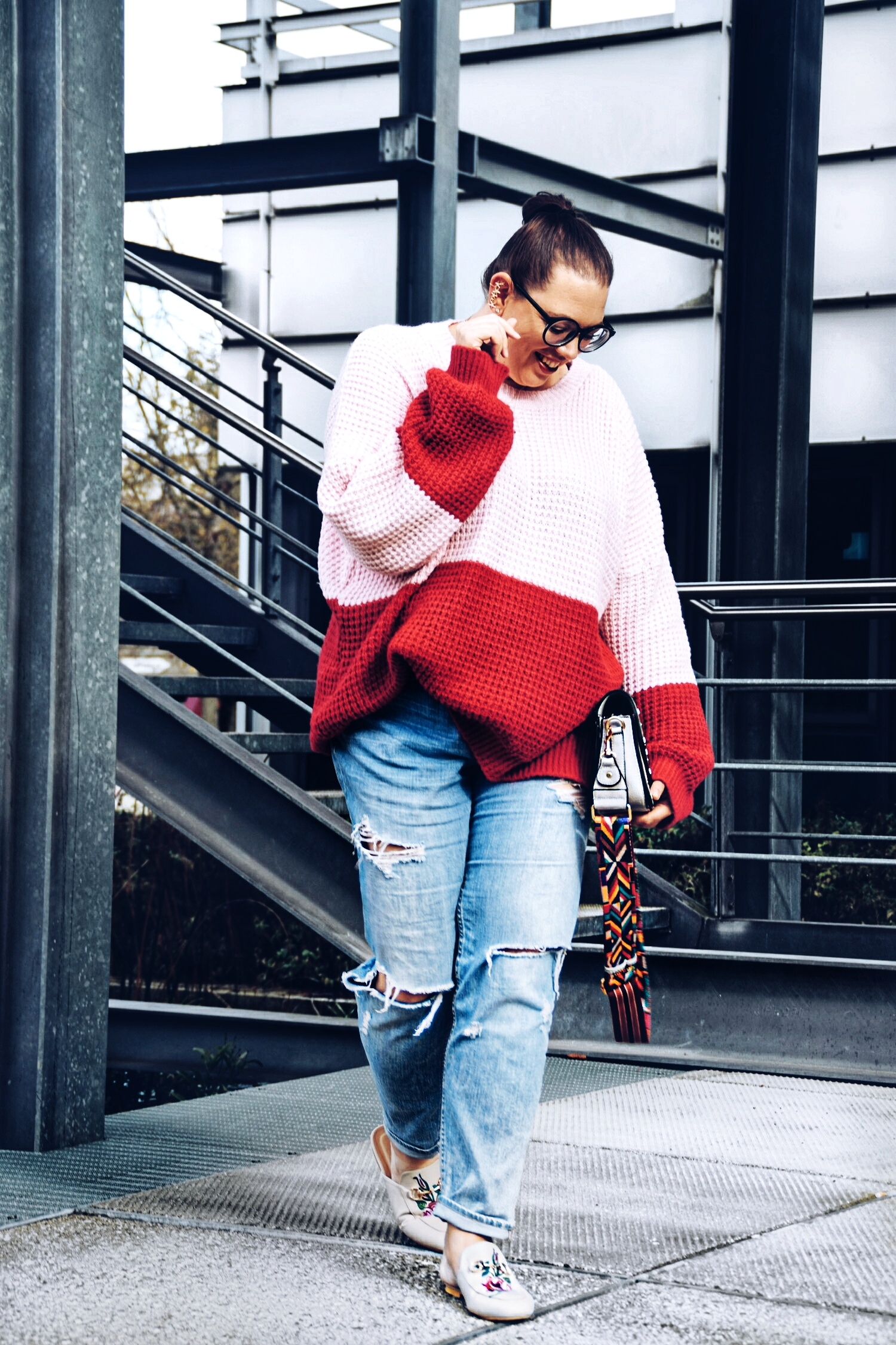 Outfit : Colorblocking Knitter boohoo6