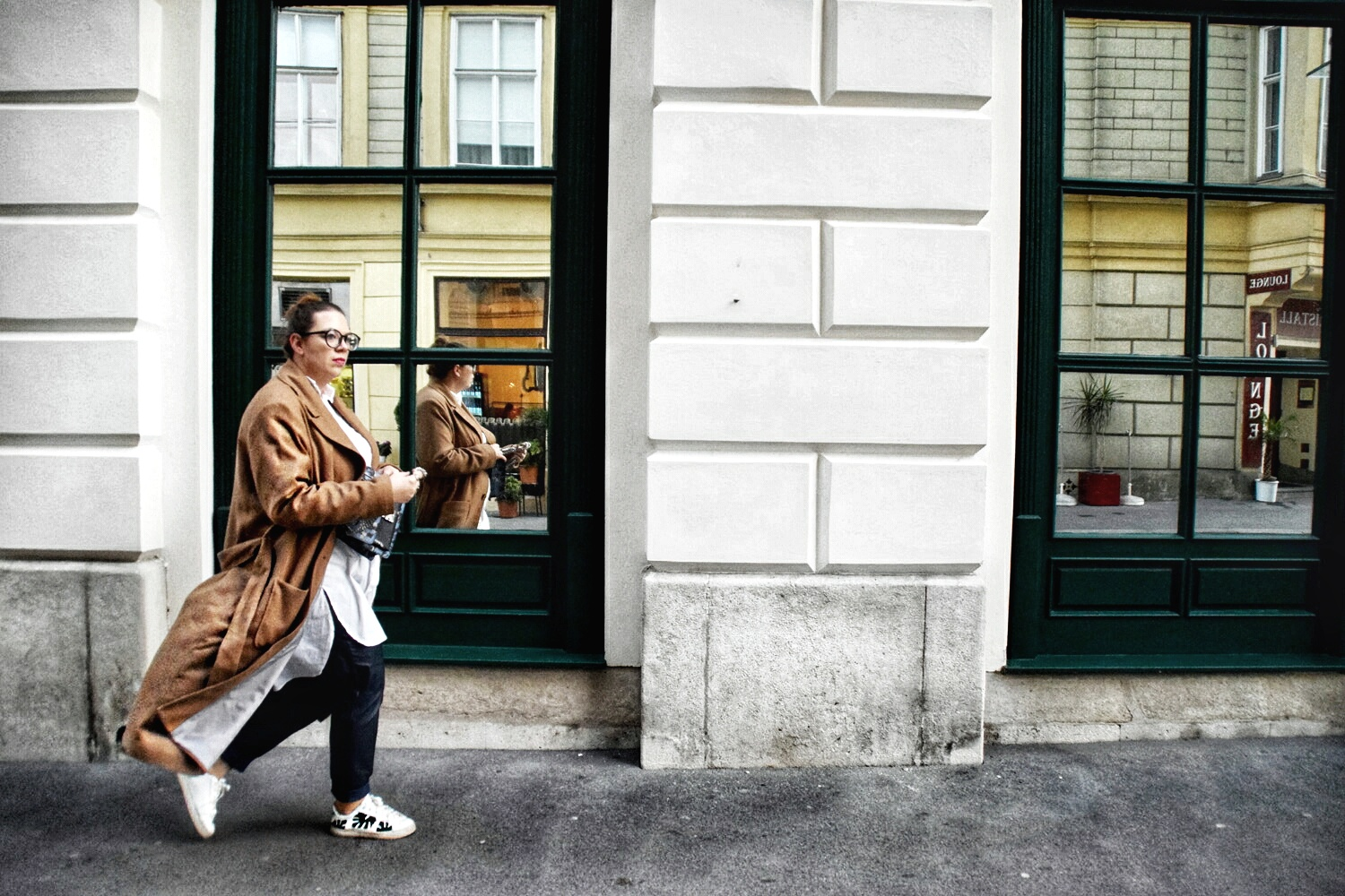 Outfit : Camelcoat & Fake Leather Pants belloya4