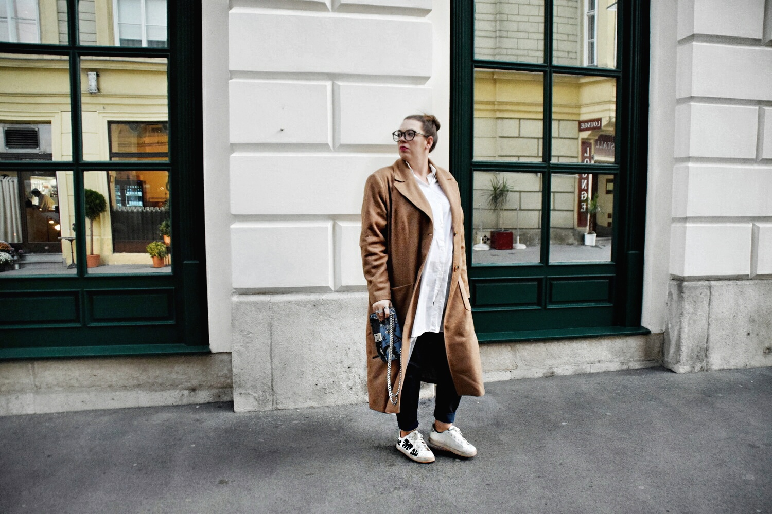 Outfit : Camelcoat & Fake Leather Pants belloya6