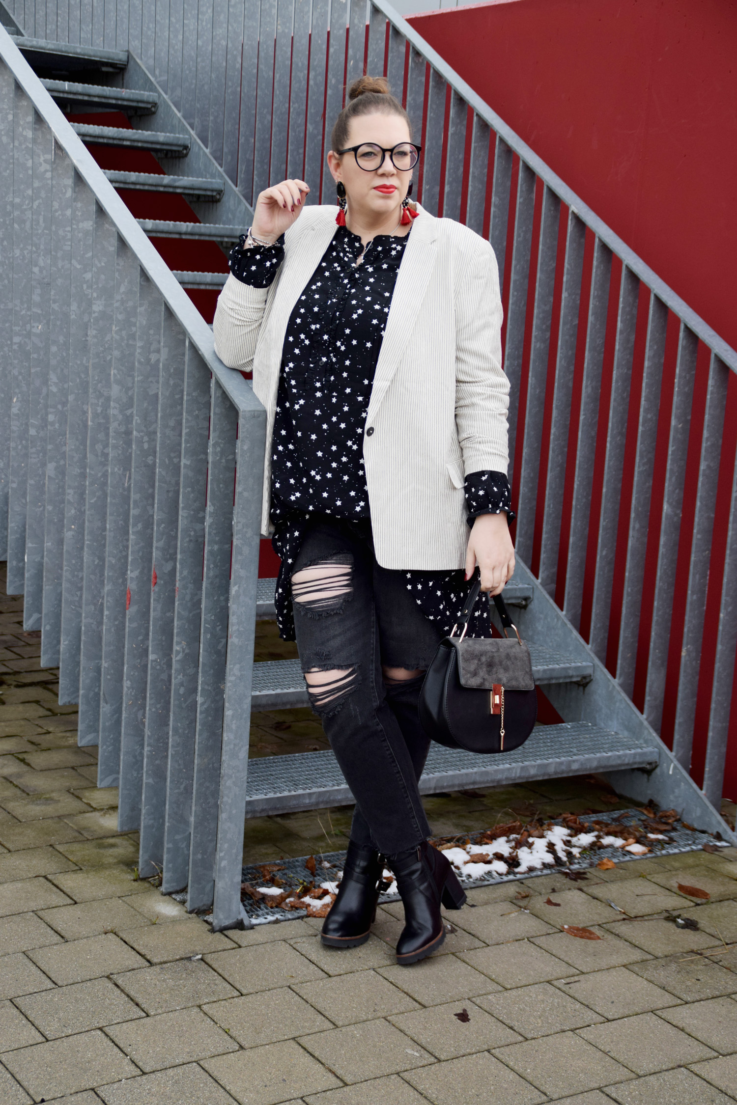 FashionWeek_Outfit : Sternchendress Anna Scholz for Sheego & Ankle Boots7