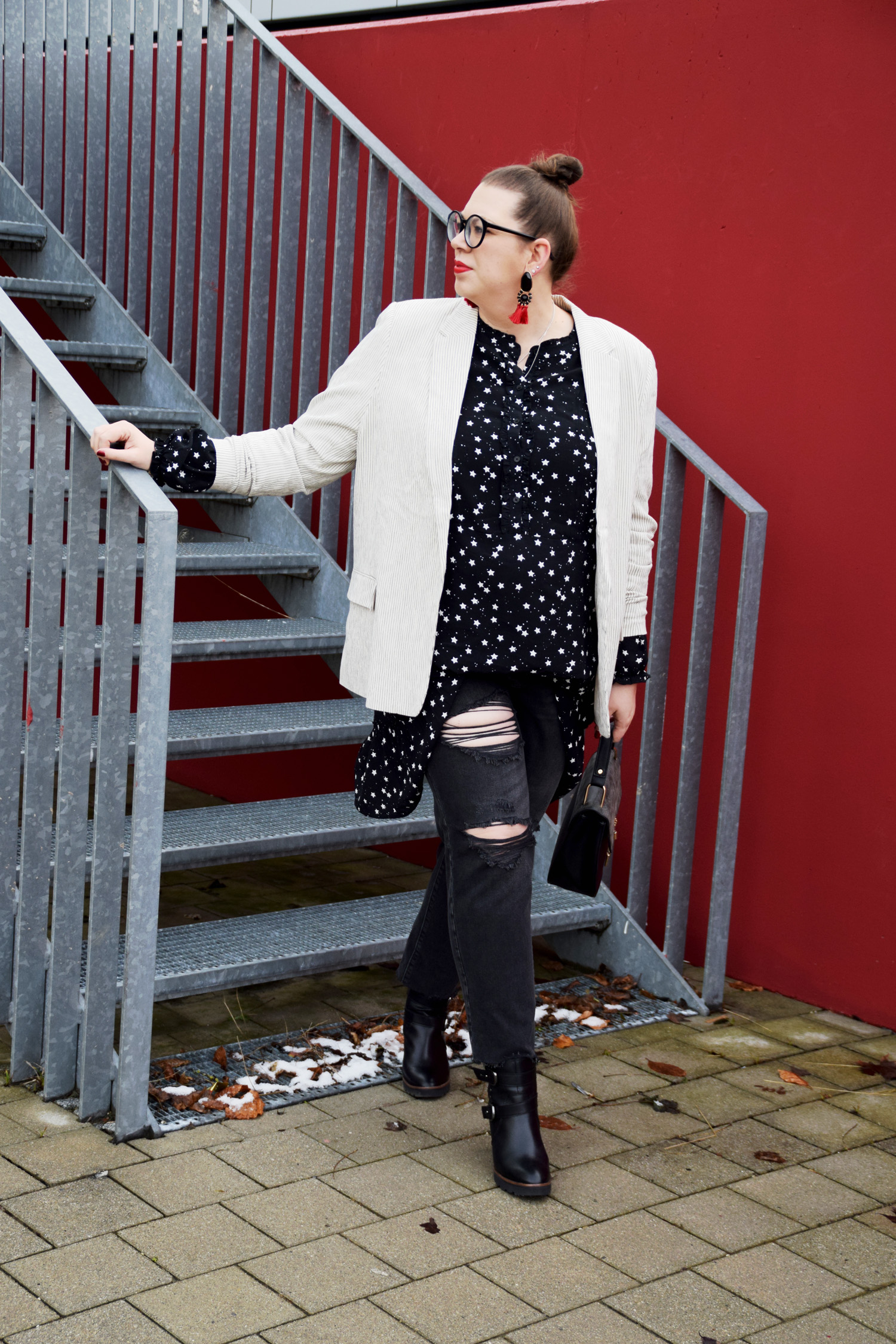 FashionWeek_Outfit : Sternchendress Anna Scholz for Sheego & Ankle Boots