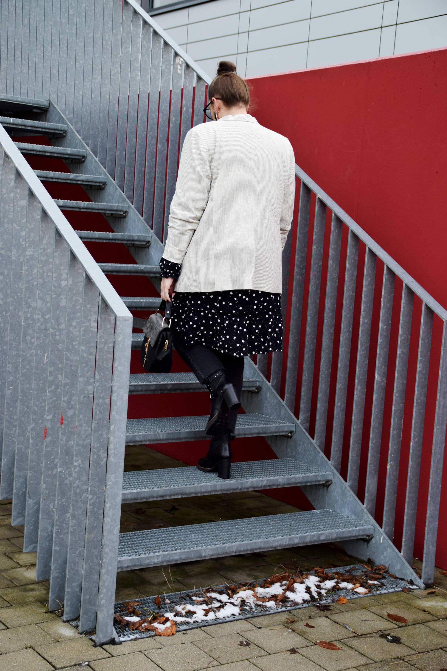 FashionWeek_Outfit : Sternchendress Anna Scholz for Sheego & Ankle Boots9
