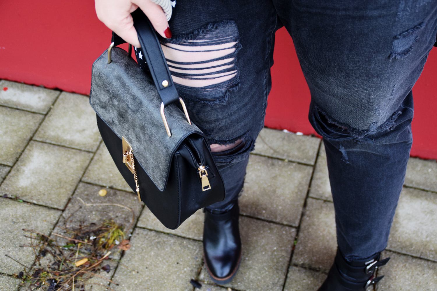 FashionWeek_Outfit : Sternchendress Anna Scholz for Sheego & Ankle Boots1