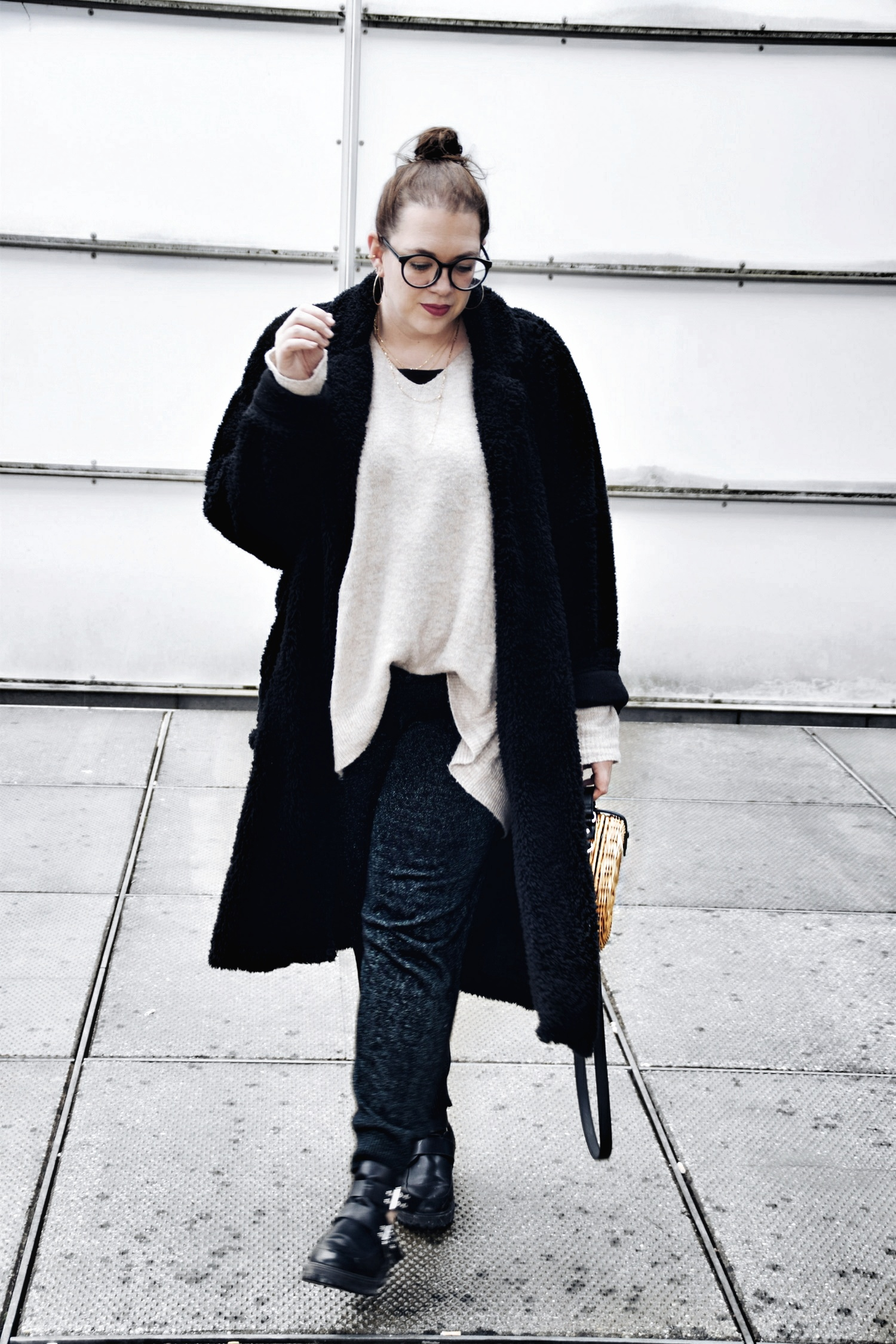 Outfit : Teddycoat Asos Man & Box Bag Bambus Mango_5