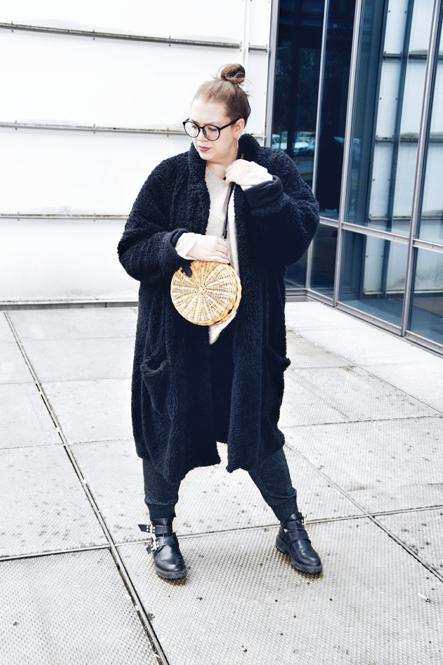 Outfit Teddycoat Asos Man Box Bag Bambus Mango Plussize Crush