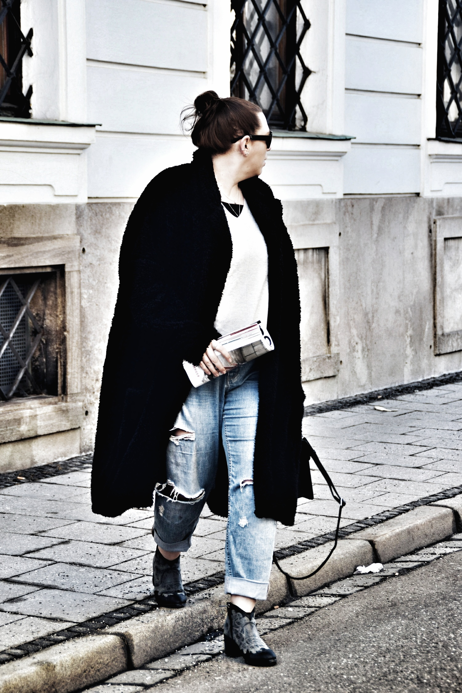 Outfit : Ankle Boots im Westernstil & Teddycoat Asos Man_3